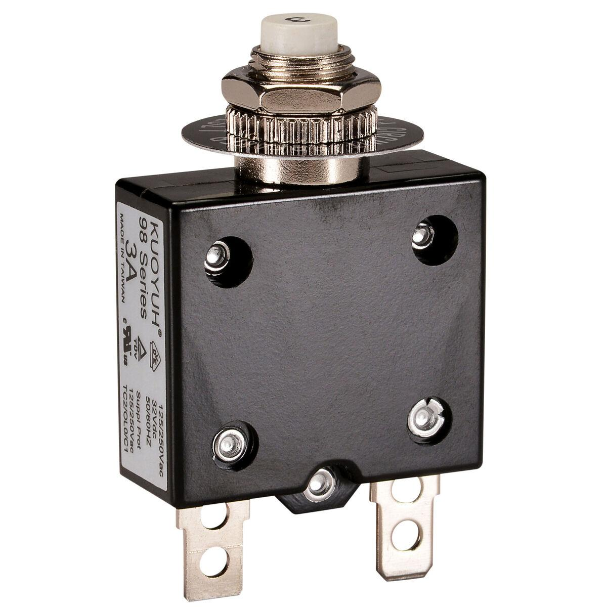 Resetable Circuit Breaker reset circuit breaker 8A pop up button