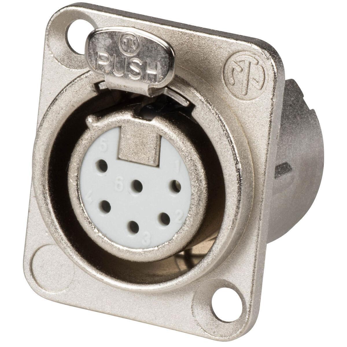 NEUTRIK NC6FRC 6 Pin XLR Cable Mount f Right Angle