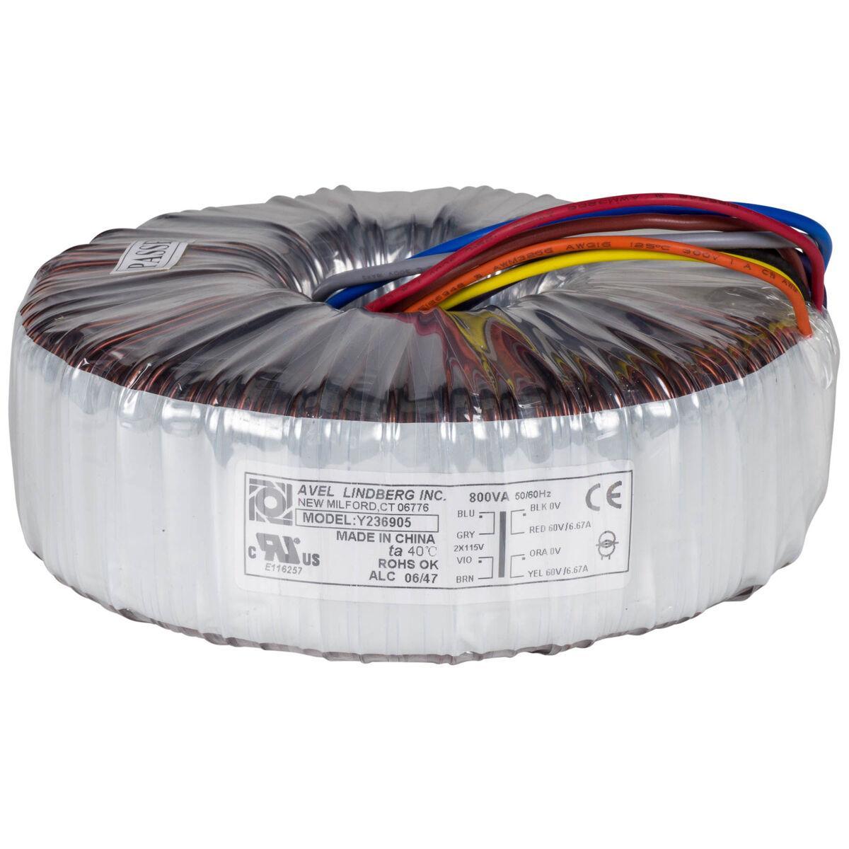 Avel Y236751 330VA 30V+30V Toroïdal Transformateur