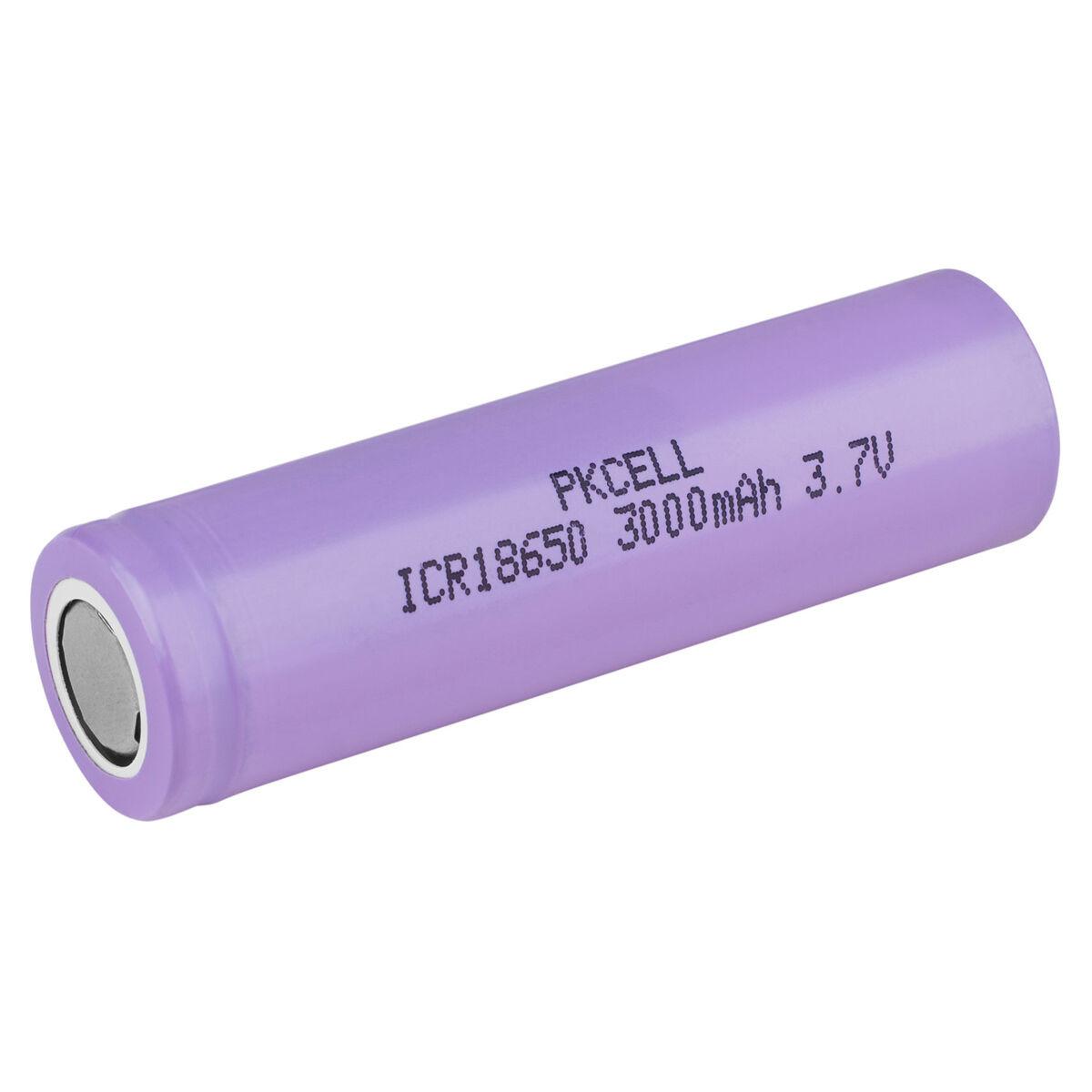 PKCELL Flat Top 18650 3.7V 3000mAh Rechargeable Li-Ion Battery