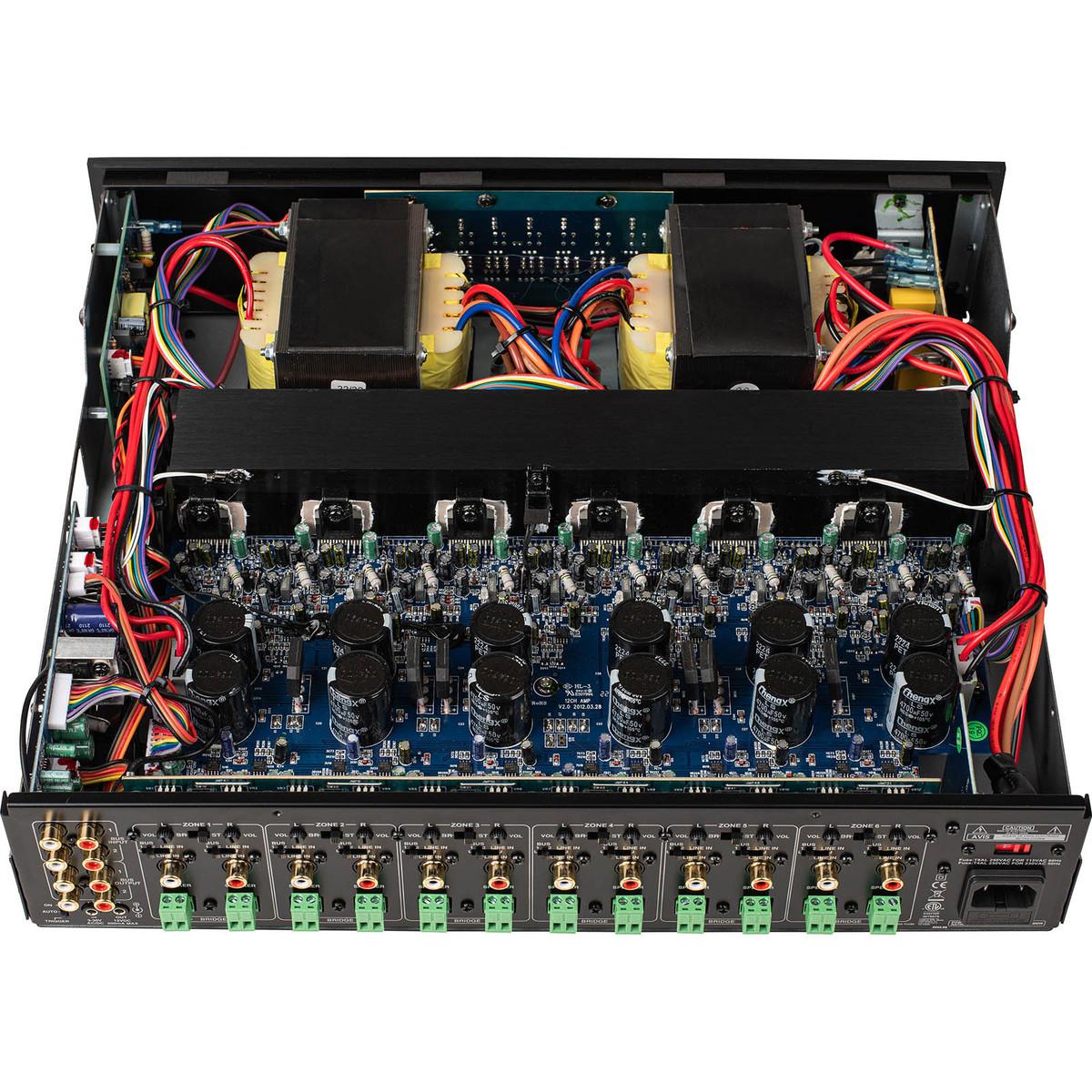 Dayton Audio Ma1240a Multi Zone 12 Channel Amplifier